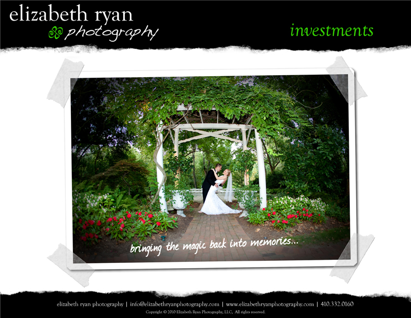 we are inspired to create a newly designed wedding catalog with packages